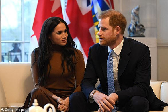 SARAH SANDS: Harry and Meghan (pictured earlier this year) appear to have played a blinder with their new Netflix deal which, if reports are to be believed, is worth over £100 million