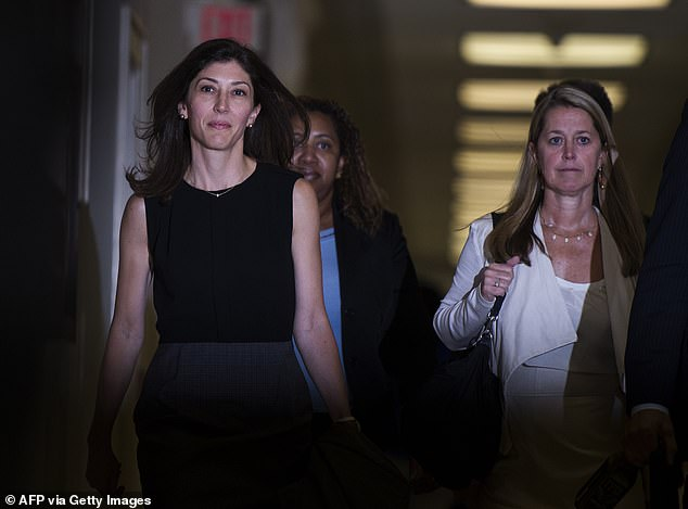 The DOJ Inspector General said text messages exchanged by Page (left) were 'indicative of a biased state of mind'