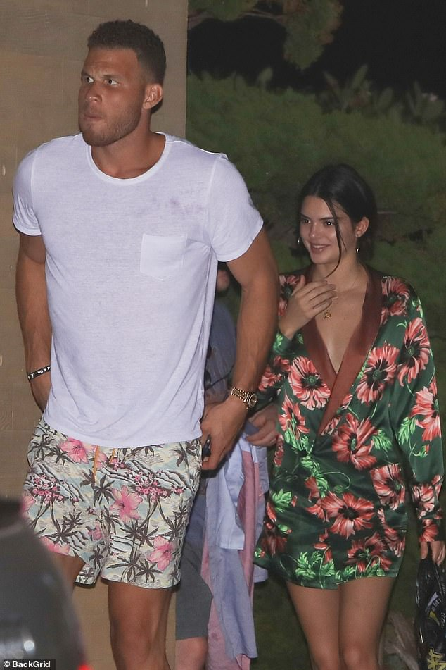 Former flame: Kendall dated Blake Griffin from the summer of 2017 until their breakup in the spring of 2018; Blake and Kendall pictured in 2017