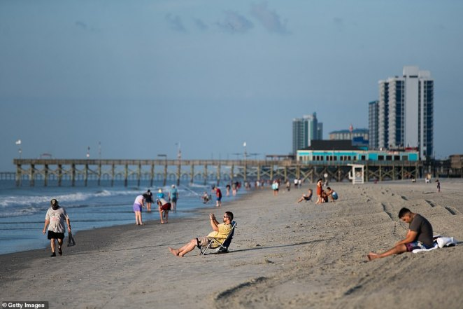Myrtle Beach in South Carolina was quieter than usual, after COVID-19 hampered the summer tourist season