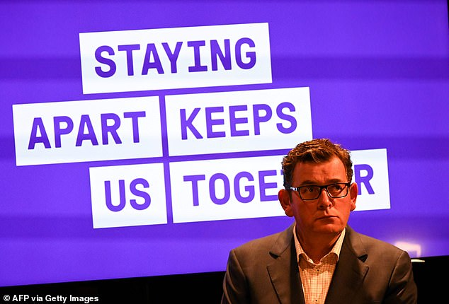 Victorian Premier Daniel Andrews (pictured) announced on Sunday strict lockdown sanctions would continue