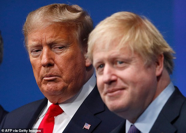 Boris Johnson (pictured with Trump in 2019), on the other hand, did things differently.He formed relationships with those close to Mr Trump - including his son-in-law Jared Kushner