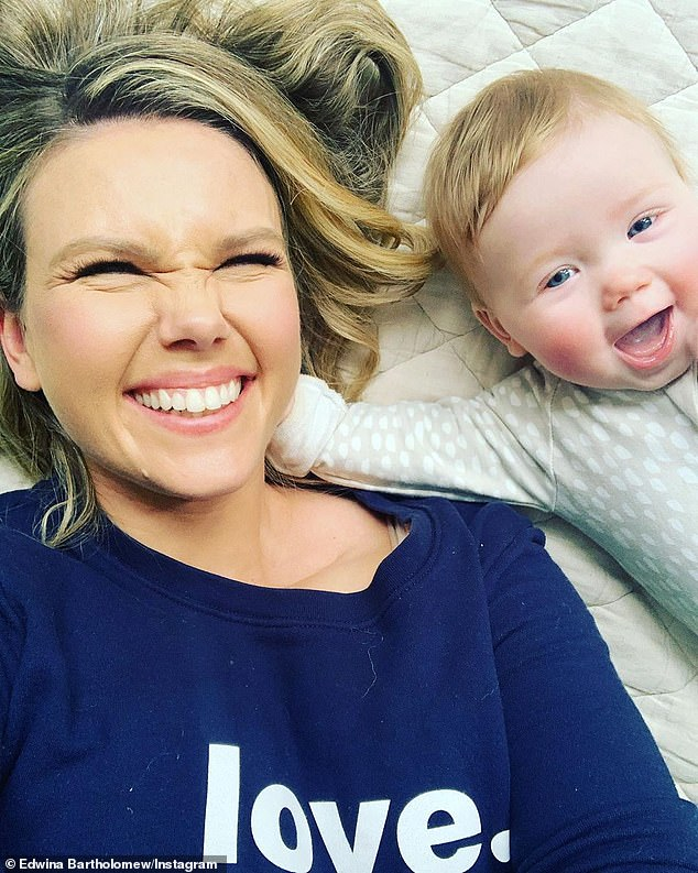 Back to work:Edwina returned to her role as a presenter with Channel Seven morning show Sunrise at the start of June - which is notorious for its gruelling early morning starts