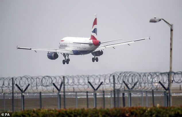 Testing for coronavirus at airports (Heathrow pictured) is not a 'reliable' way of preventing the disease coming into the country, Dominic Raab insisted today