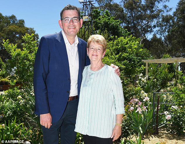 Dan and Jan Andrews: Daniel Andrews pictured with his mother, Jan, at her Wangaratta farm before the restrictions