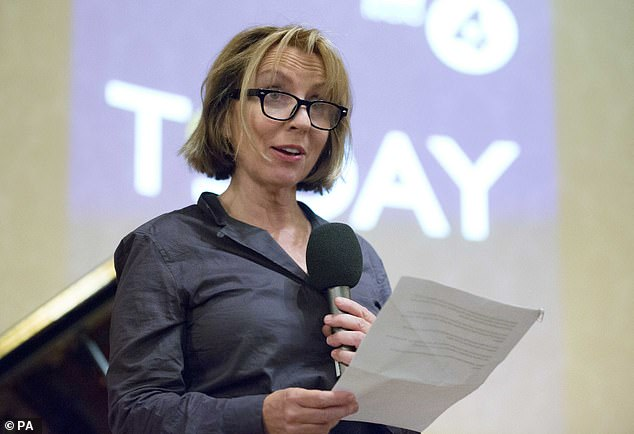 Former editor of Radio 4's Today programme Sarah Sands, 59, described how the gap in pay between workers was worse at the broadcaster than it was in the city's financial firms
