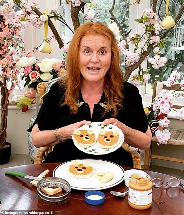 Sarah Ferguson has announced she would be released a cookbook for the whole family. The Duchess of York, 60, who has been staying at Royal Lodge in Windsor since the beginning of lockdown, made the announcement on her official Instagram page, sharing how excited she was about the new venture (pictured with peanut butter toasts shaped like bears)