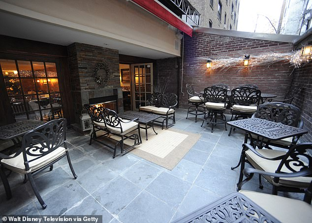 The outdoor dining area atJoanne Trattoria, the restaurant opened by Lady Gaga's family