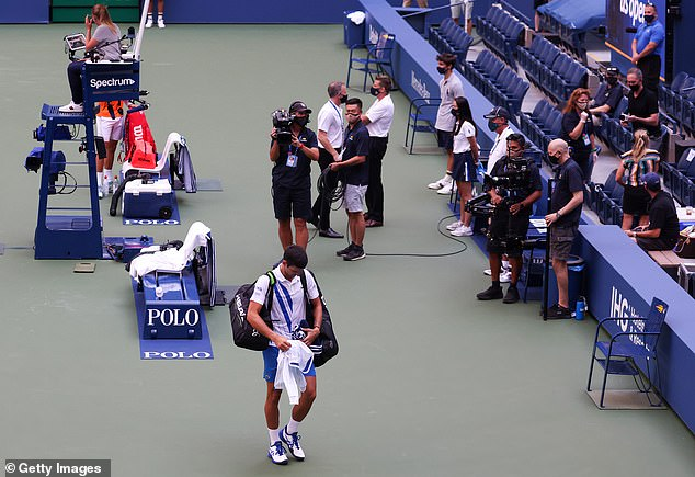 The Serbian star trudged off, exiting the US Open despite being the overwhelming favourite