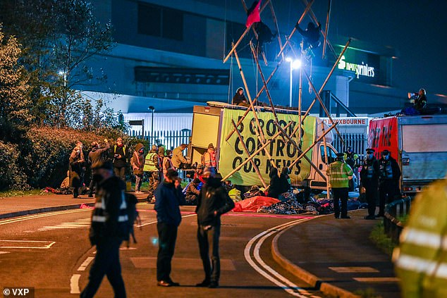 Around 100 protesters who targeted Newsprinters printing works at Broxbourne, Hertfordshire, and Knowsley, near Liverpool, in a bid to stifle free speech have been warned they could face jail time after a change to the law is mooted