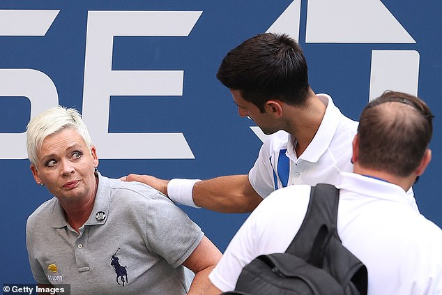 The World No 1 was disqualified from the US Open after inadvertently hitting a line judge