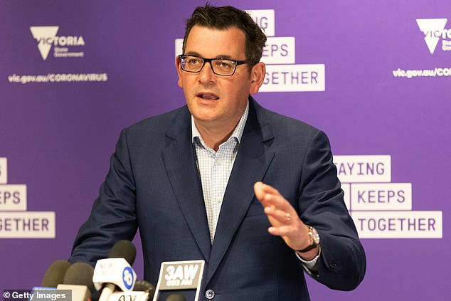 Victorian Premier Daniel Andrews (pictured) announced his four-step plan out of lockdown on Sunday