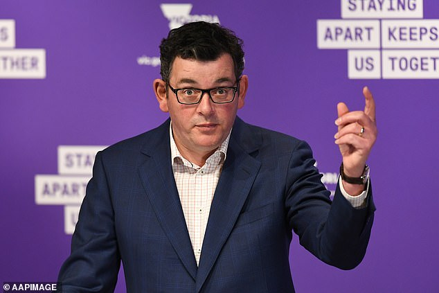 The Accommodation Association fears thousands of businesses will go under because lockdown is being relaxed too slowly. Pictured: Premier Dan Andrews