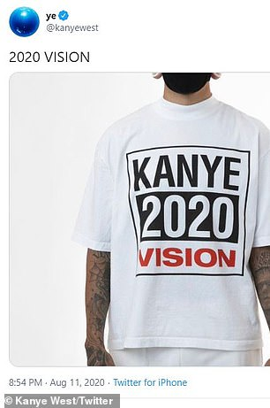 '2020 vision':Kanye has been caught using defective petition signatures of names like 'Mickey Mouse' and 'Bernie Sanders,' illegally used Kirsten Dunst's face on a campaign ad, and even his logo is a rip-off of skateboard brand, Vision Street Wear