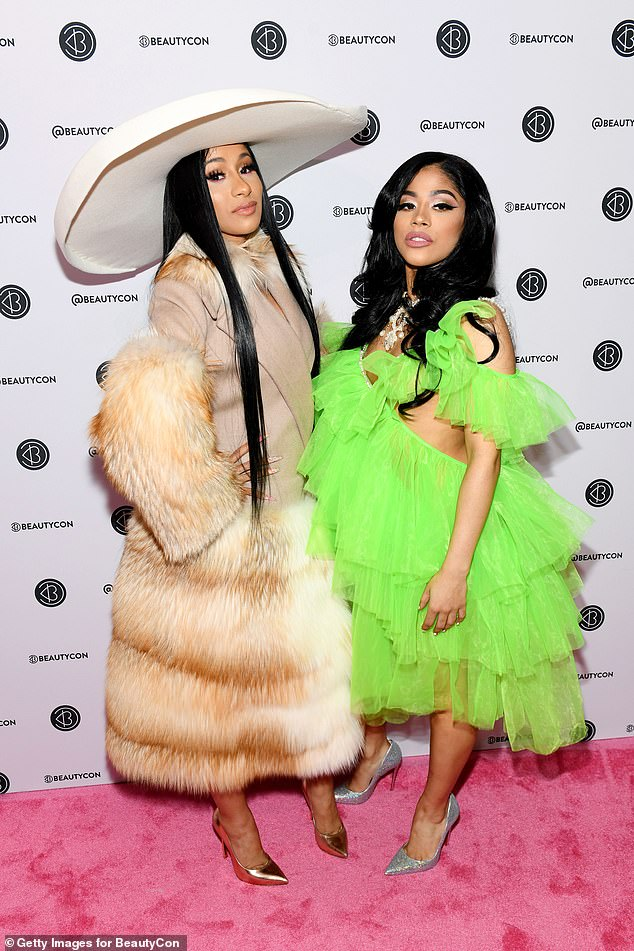 Sister act: Cardi B and Hennessy (right) pictured in 2019