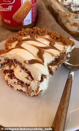 The dessert can be made from five ingredients: cream, sugar, vanilla extract, Lotus Biscoff spread and biscuits