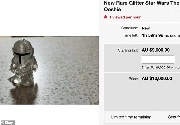 Another shopper from Queensland priced their sparkly Star Wars The Mandalorian Ooshiesfor a starting bid of $9,000