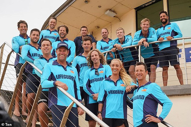An executive producer who spent the past three decades at channel Ten is now suing the ViacomCBS-owned TV network for almost $400,000. Pictured: the cast of Bondi Rescue