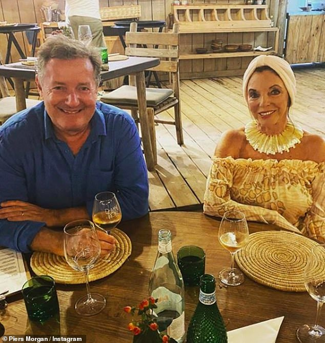 Fromage:The Netflix documentary maker said during their summer break he couldn't 'stop eating cheese' as he holidayed in St. Tropez with the likes of Joan Collins