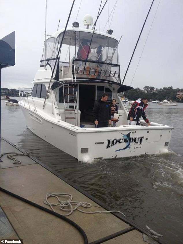 Ayoub's boat 'Lockout' regularly takes to Botany Bay as part of his activities as president of the local boat club