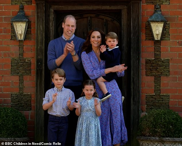 The Duke and Duchess of Cambridge, both 38, felt lockdown was 'a rare gift' to spend time with Prince George, seven, Princess Charlotte, five, and Prince Louis, two, who have been 'given the privilege' of 'prolonged time with their parents, a royal expert has claimed