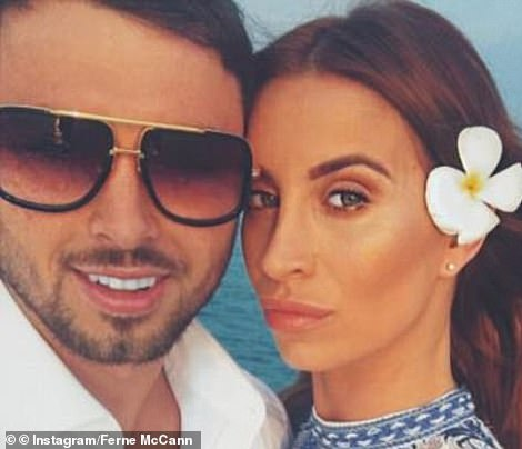 Shocking: In 2017, Ferne McCann's ex-boyfriend Arthur Collins, with whom she shares daughter Sunday, two, was jailed for 20 years after he squirted acid across a packed nightclub dancefloor