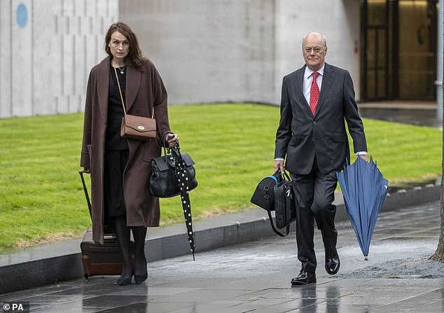 Sir John Saunders, Chair of the Inquiry and Sophie Cartwright, Deputy Council, arrive at Manchester Magistrates Court today