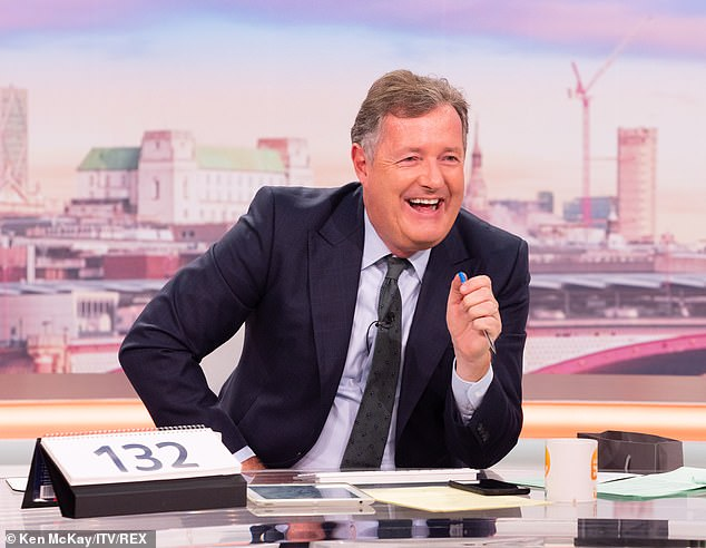 Hard luck:With fellow ITV series Good Morning Britain also up for the award, Phillip couldn't resist saying after the win: 'Thank you, sorry Piers!' Piers Morgan is pictured above