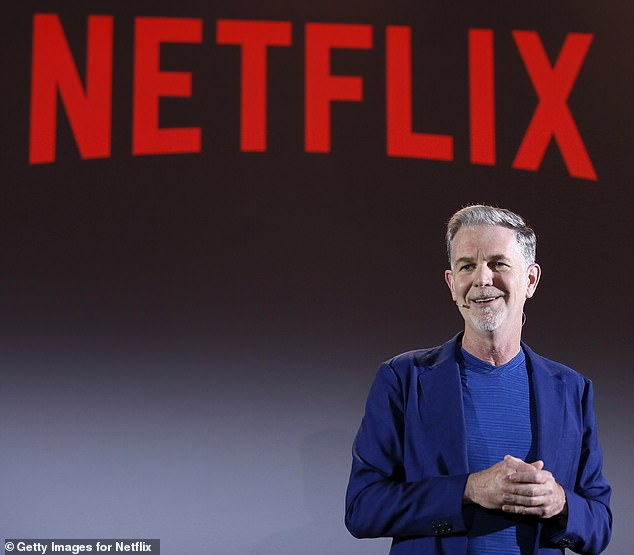 Reed Hastings, 59, whose California-based company signed an nine-figure deal with the Duke and Duchess of Sussex, offers up advice to would-be moguls in No Rules Rules: Netflix and the Culture of Reinvention, co-authored by Erin Meyer. Pictured, Hastings in 2018