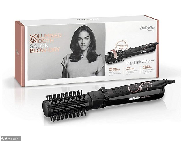 The styler has a 42mm ceramic barrel that adds fullness and body as you blow dry, while a brush with soft bristles gives your hair optimum shine and smoothness