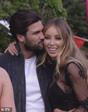 Happy days:Lauren and handsome Dan Edgar were embroiled in a casual romance early