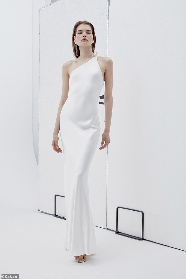 BEST FOR A-LIST GLAMOUR:Luxurious silk satin cascades over the lines of the body in a single sweeping movement, creating a long silhouette and smoothing over any imperfections.The asymmetric neckline and delicate straps showcase shoulders and arms