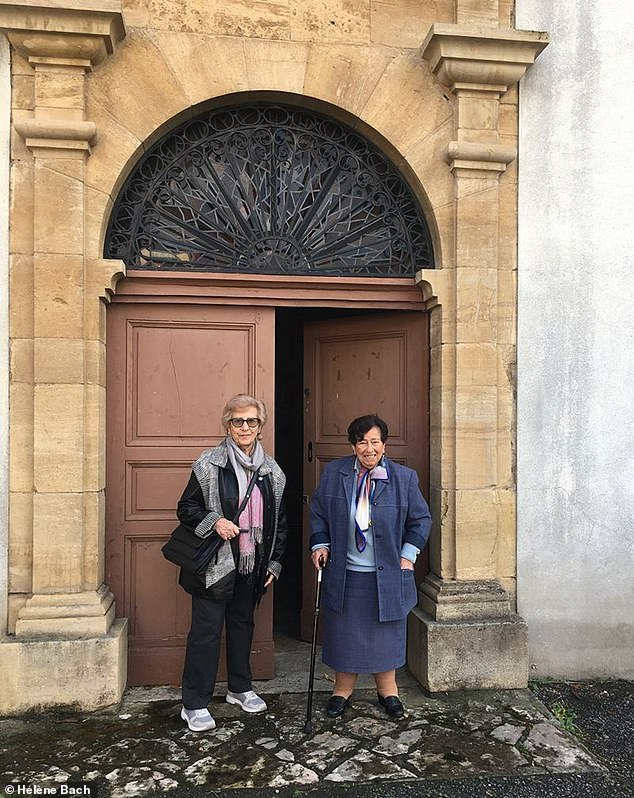 Hélène Bach, left, now 90, was 12 when her Jewish family were taken away by German troops near Tours during the German occupation of France from 1939 to 1944. She and her sister Annie, right, now 94, were kept safe in a convent near Toulouse by brave nuns who defied the Nazis
