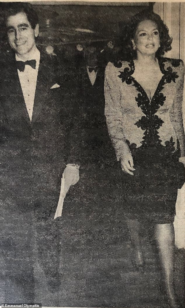 Businessman Emmanuel 'Manoli' Olympitis (pictured with Princess Ira von Fürstenberg in the 1970s), 71, has released a memoir which details thirty years of star-studded anecdotes set in high-end hangouts all around the world