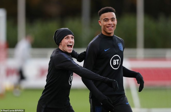 Phil Foden (left) and Mason Greenwood are both heading home after breaking quarantine rules, Gareth Southgate has confirmed