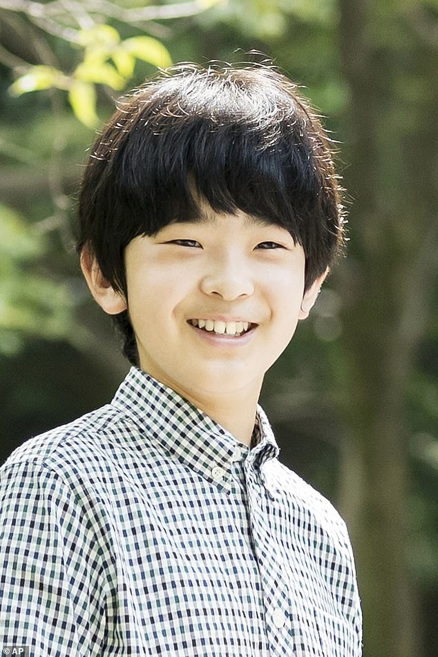 They grow up so fast! Prince Hisahito (pictured) is second in the line of succession behind his father after his uncle Emperor Naruhito ascended to the throne in May 2019
