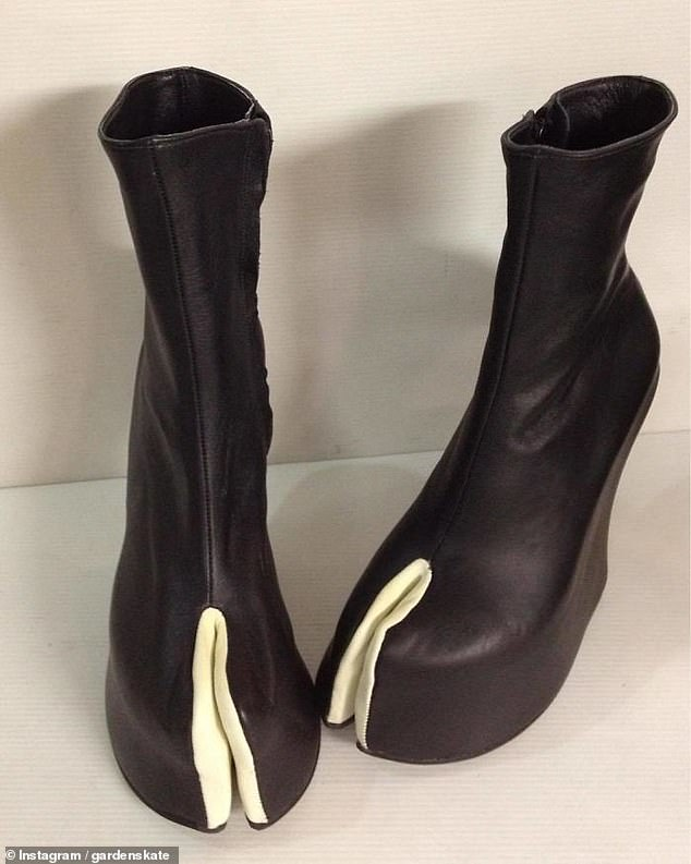 No horsing around! One person, from an unknown location, shared a snap of these pair of heels, which are shaped to look like white and black hooves