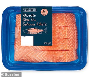The Fishmonger Fresh Salmon Fillet four pack, $11.99, took out the top spot in the 'BBQ Boss' category (pictured)