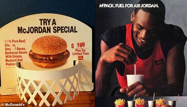NBA legend: The collaboration with Cactus Jack was the first time since 1992 that a celebrity's name was featured on a McDonald's menu when Michael Jordan had a burger