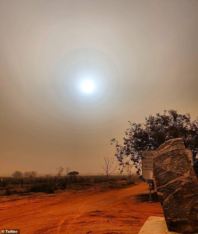 Much of southern and east Australia will experience strong winds as a strong cold front continues to create damaging conditions as it moves across the country (dust storm in Broken Hill pictured on Monday)