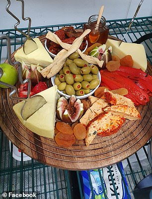 Many said they relied on trays including the round acacia board from Kmart (pictured) to whip up delicious feasts