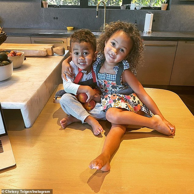 Siblings: Both Luna and her brother Miles, two, were conceived thanks to IVF after Chrissy and John had embryos frozen due to a long struggle with infertility. Baby number three, though, was a surprise and was conceived naturally