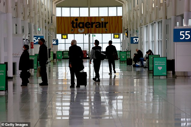 However, the following day the man allegedly claimed to have documents stating he had a valid exemption. Pictured: Quiet Sydney airport on August 7