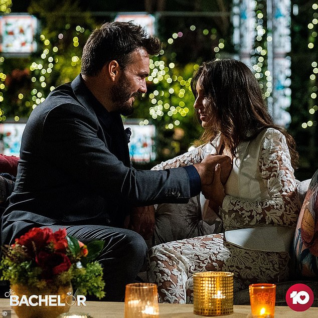 Hitting back: It comes a week after the Instagram star publicly slammed claims she aspires to be an actress who dreams of moving to LA to further her career. Pictured with Locky Gilbert on The Bachelor