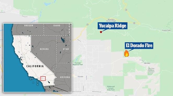 The fire spread from the El Dorado Ranch Park north, onto the Yucaipa Ridge and into the San Bernardino National Forest