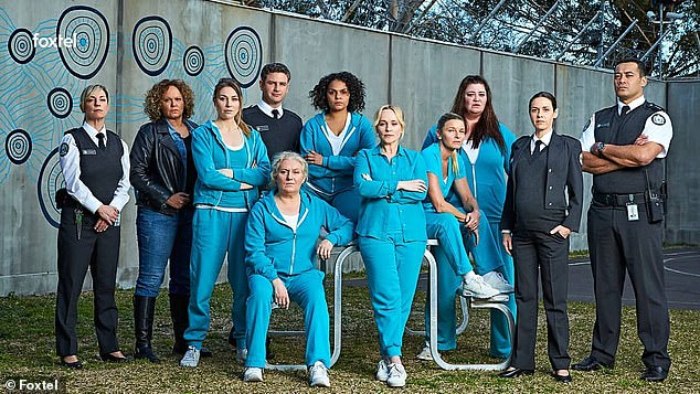 End of the road: Australian prisoner drama Wentworth has wrapped filming its final episode ever after eight seasons. On Friday, the actors and production crew of the acclaimed drama said their final goodbyes on the Melbourne set, TV Tonight reported. Pictured is the cast