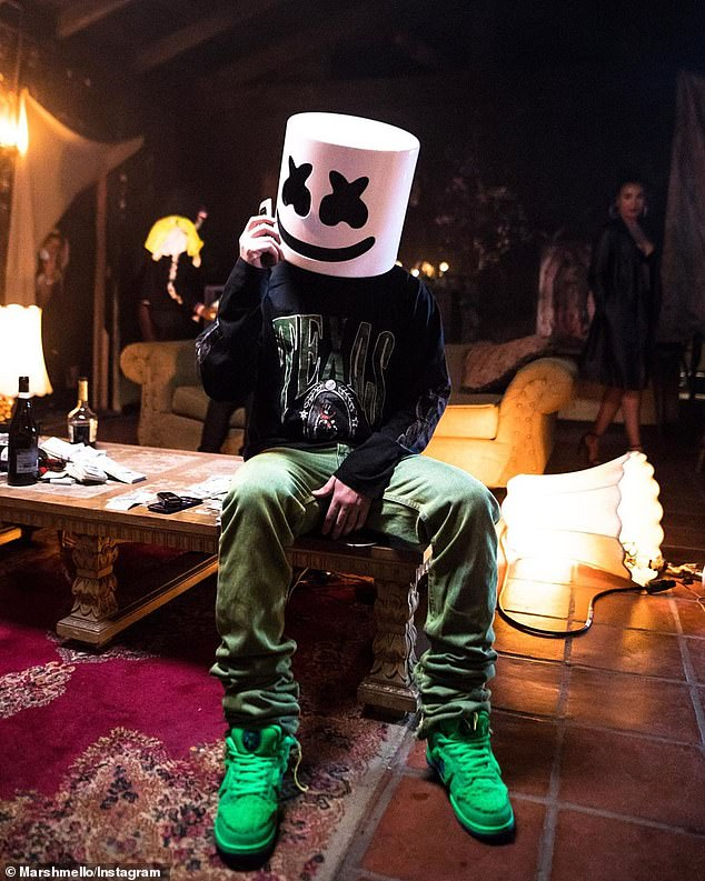 Days away! Up next, Lovato (R) will finally release her long-awaited collaboration with Marshmello (L) titled Ok Not to Be Ok (pictured August 3)
