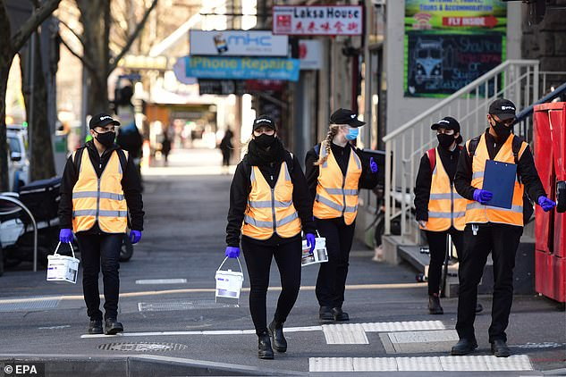 Small businesses have struggled through Melbourne's tough stage 4 coronavirus lockdown where all non-essential businesses were shut (Melbourne CBD pictured on Thursday)