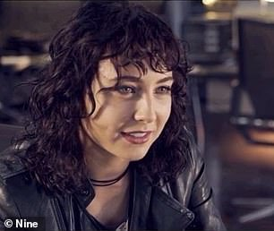 Changes: In the new Channel Nine series, Mavournee has traded in her clean cut looks for a harder, grungier edge which includes a fresh no brunette 'do