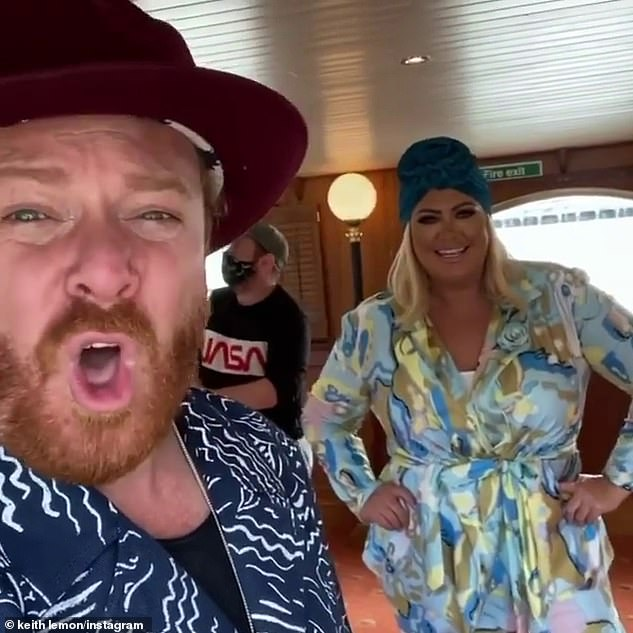 Filming!It was an exciting day for the reality star as earlier in the day she joined Keith onboard a boat to film scenes for the second series of his show Shopping